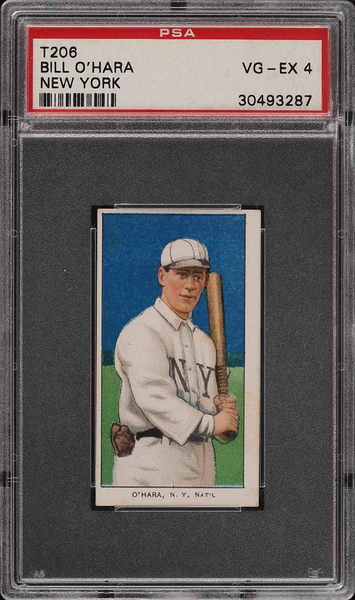 1909-11 T206 SETBREAK Bill O'Hara NEW YORK PSA 4 VGEX (PWCC) - Image 1