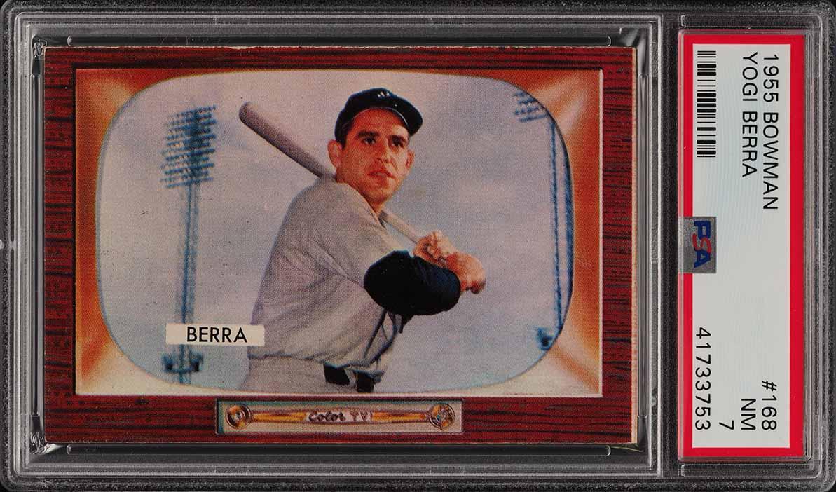 1955 Bowman Yogi Berra #168 PSA 7 NRMT (PWCC) - Image 1