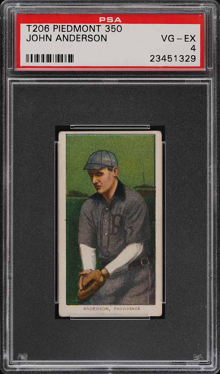 1909-11 T206 SETBREAK John Anderson PSA 4 VGEX (PWCC) - Image 1