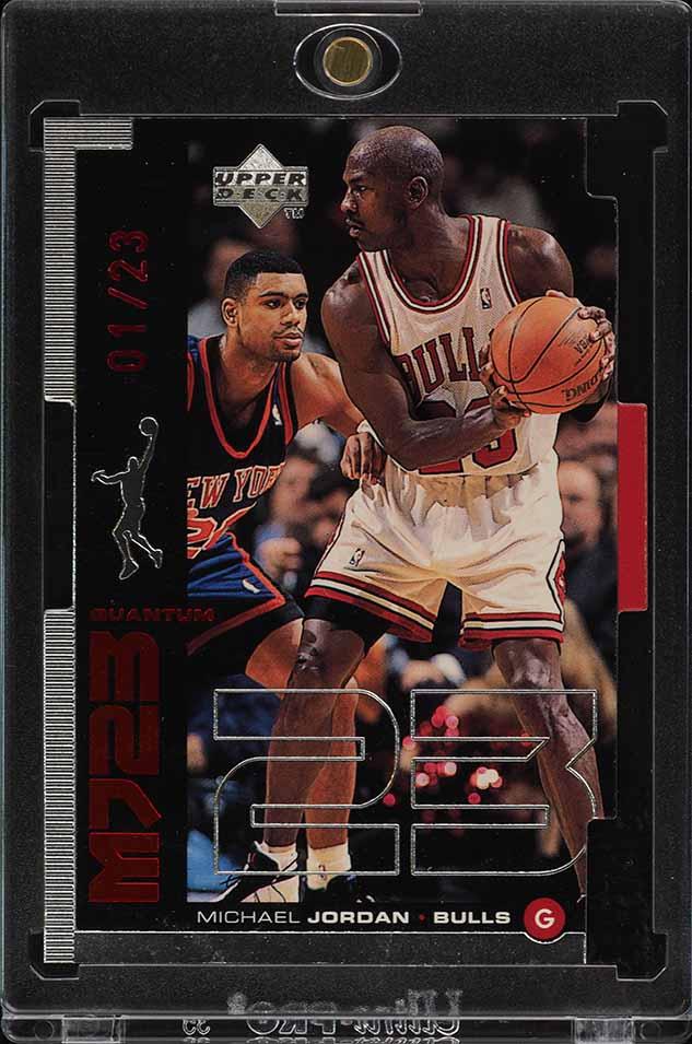 1998 Upper Deck MJ23 Quantum Silver Die-Cut Michael Jordan 1/23 #M17 (PWCC) - Image 1