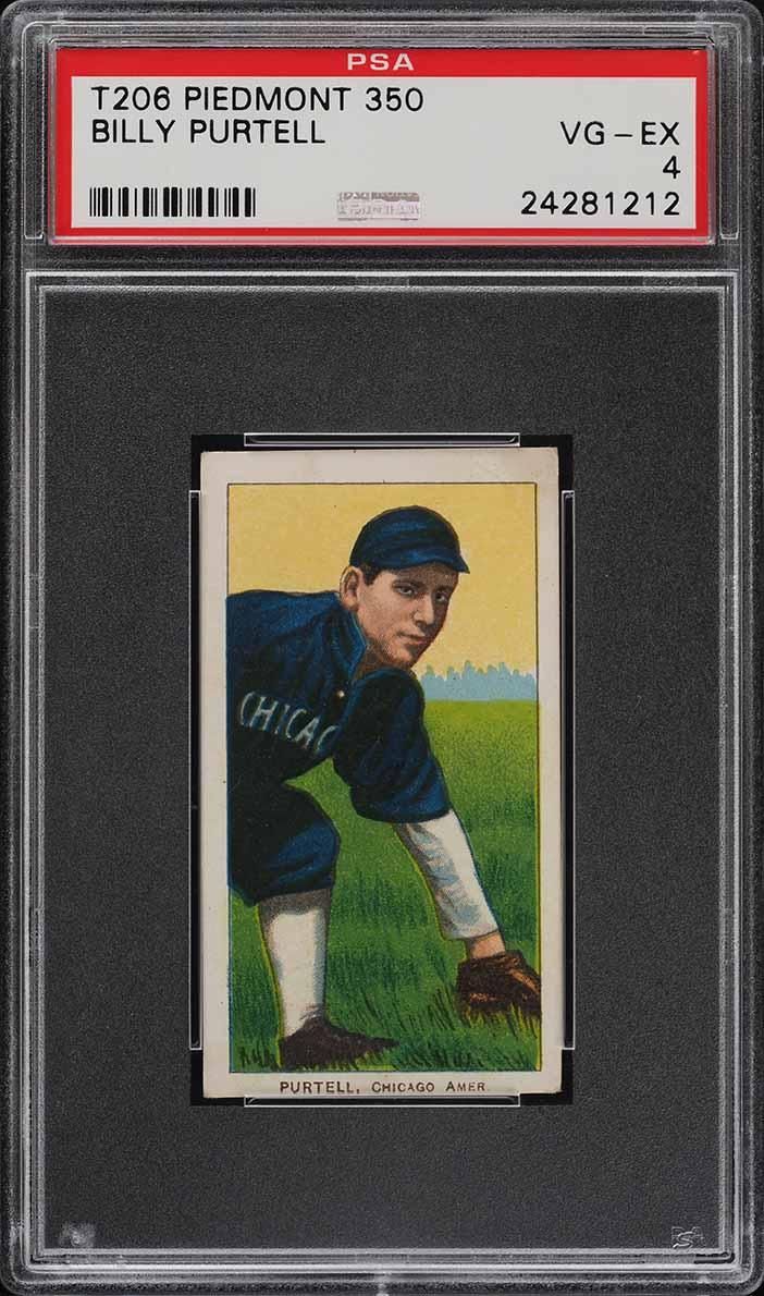 1909-11 T206 SETBREAK Billy Purtell PSA 4 VGEX (PWCC) - Image 1