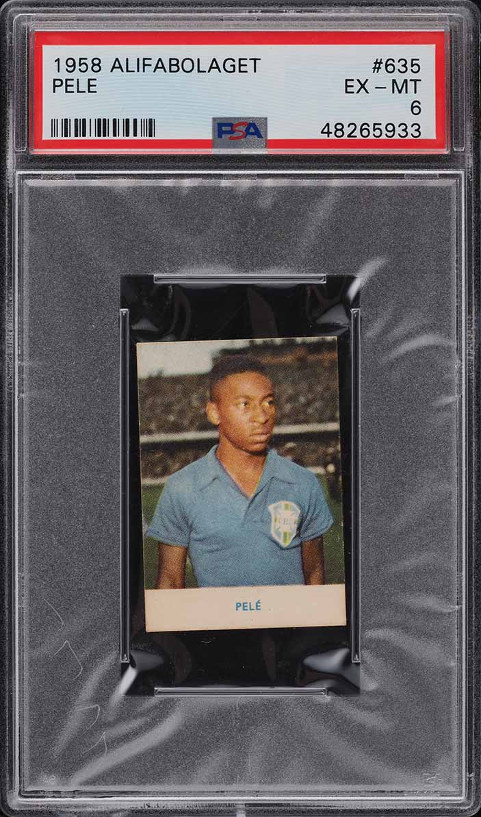 1958 Alifabolaget Soccer Pele ROOKIE RC #635 PSA 6 EXMT - Image 1