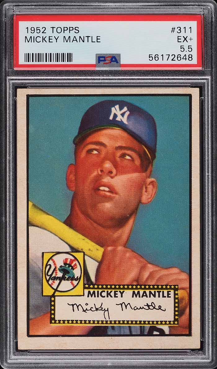 1952 Topps Mickey Mantle ROOKIE RC #311 PSA 5.5 EX+ - Image 1