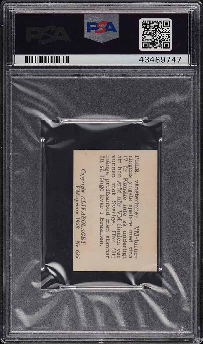 1958 Alifabolaget Soccer Pele ROOKIE RC #635 PSA 7 NRMT (PWCC) - Image 2