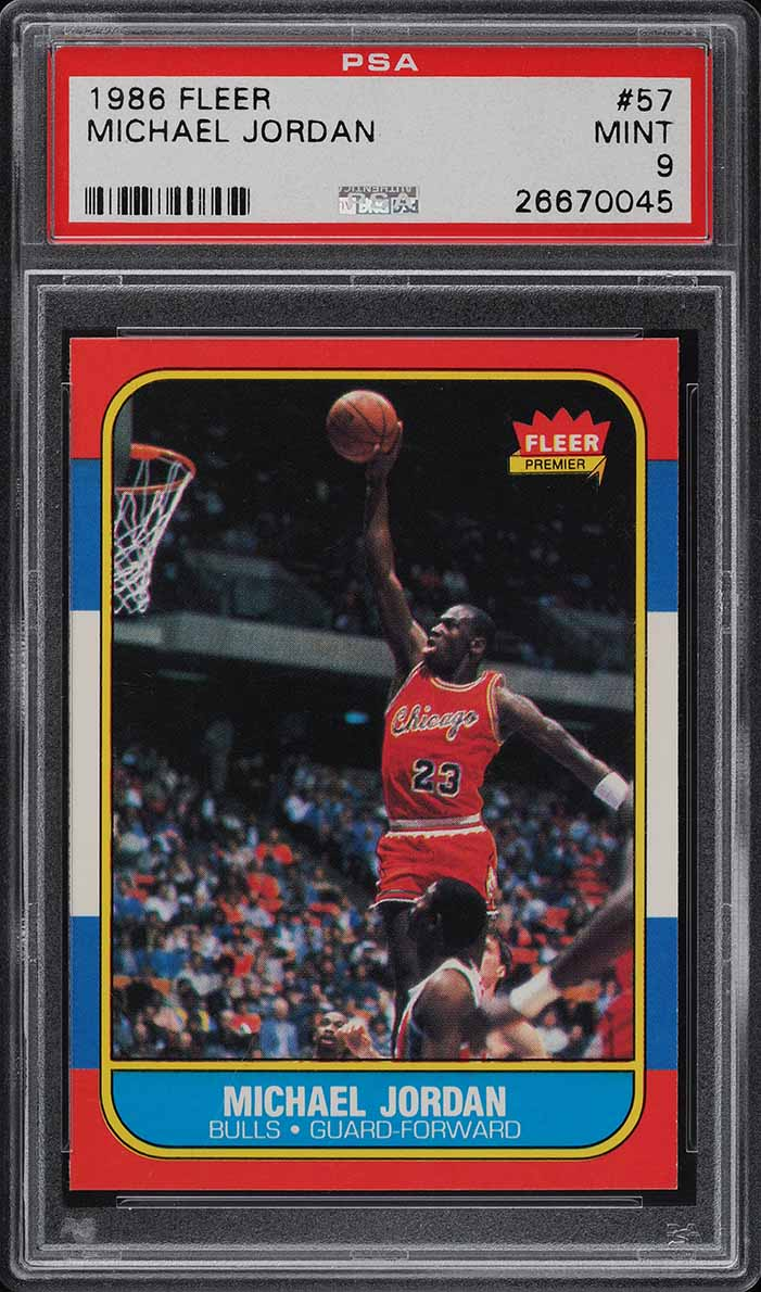 1986 Fleer Basketball Michael Jordan ROOKIE RC #57 PSA 9 MINT (PWCC-S) - Image 1