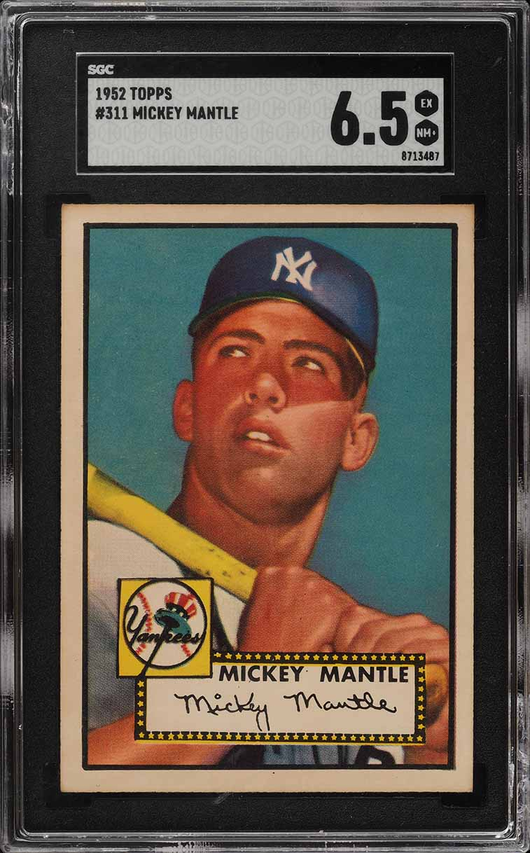 1952 Topps Mickey Mantle #311 SGC 6.5 EXMT+ (PWCC-E) - Image 1
