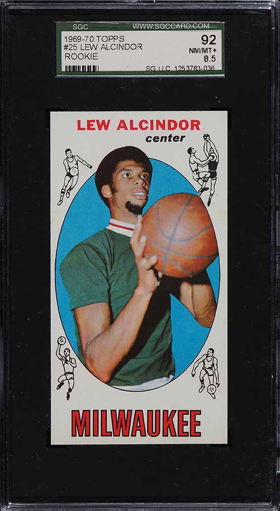 1969 Topps Basketball Lew Alcindor ROOKIE RC #25 SGC 8.5 NM-MT+ - Image 1