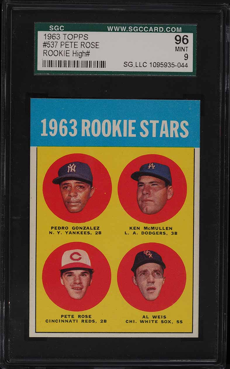 1963 Topps Pete Rose ROOKIE RC #537 SGC 9 MINT - Image 1