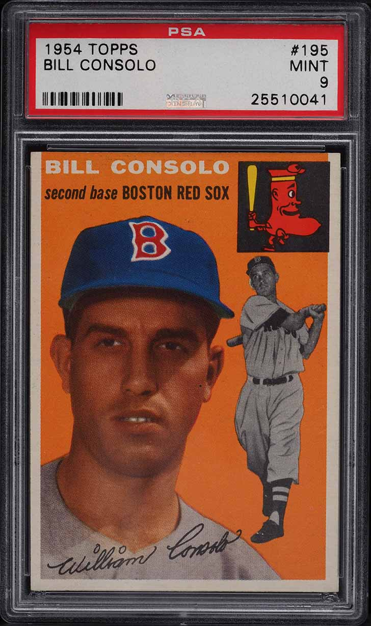 1954 Topps Bill Consolo #195 PSA 9 MINT - Image 1
