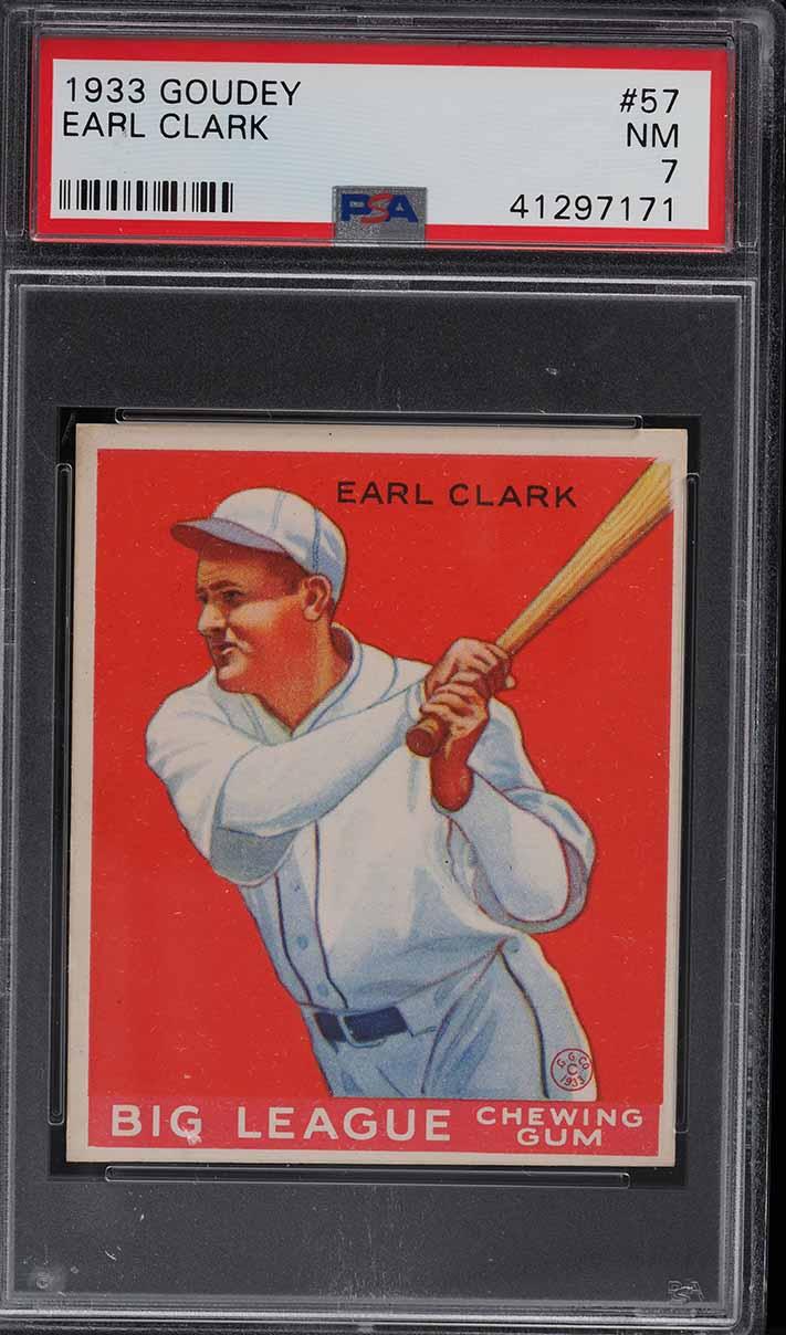 1933 Goudey Earl Clark #57 PSA 7 NRMT - Image 1