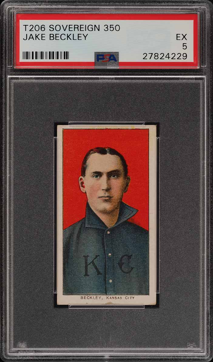 1909-11 T206 Jake Beckley SOVEREIGN PSA 5 EX (PWCC) - Image 1