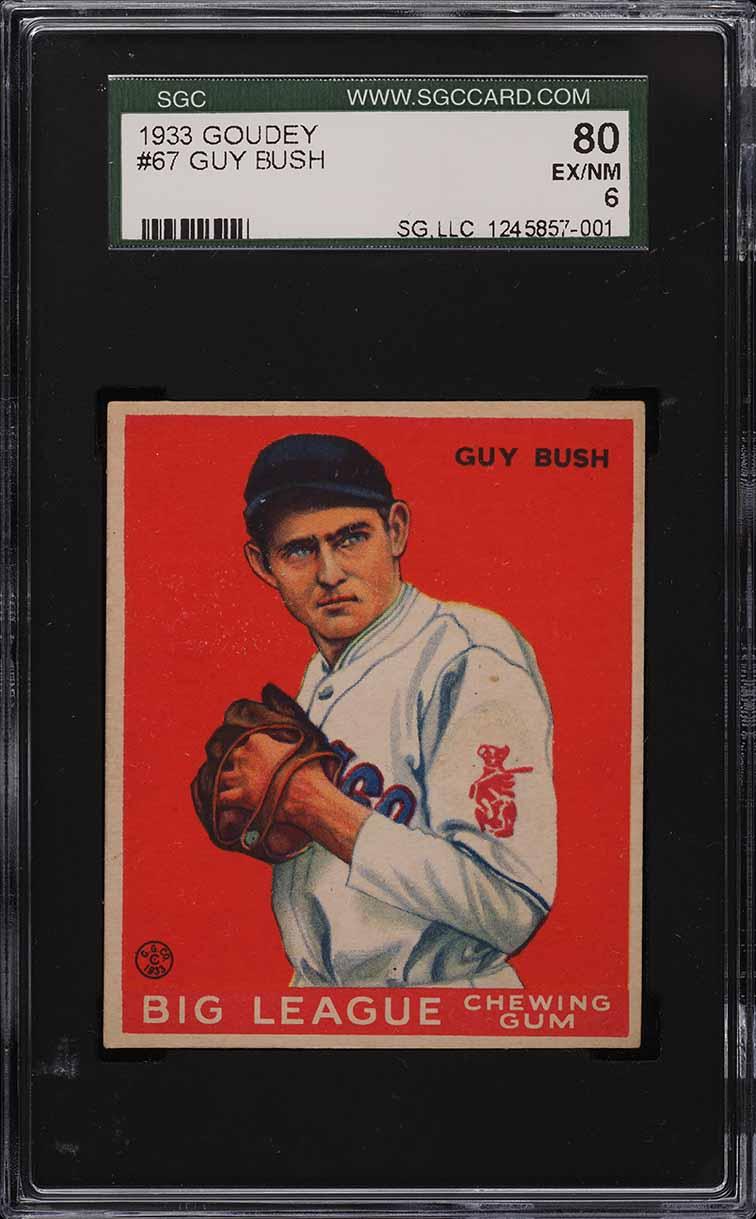1933 Goudey Guy Bush #67 SGC 6 EXMT - Image 1