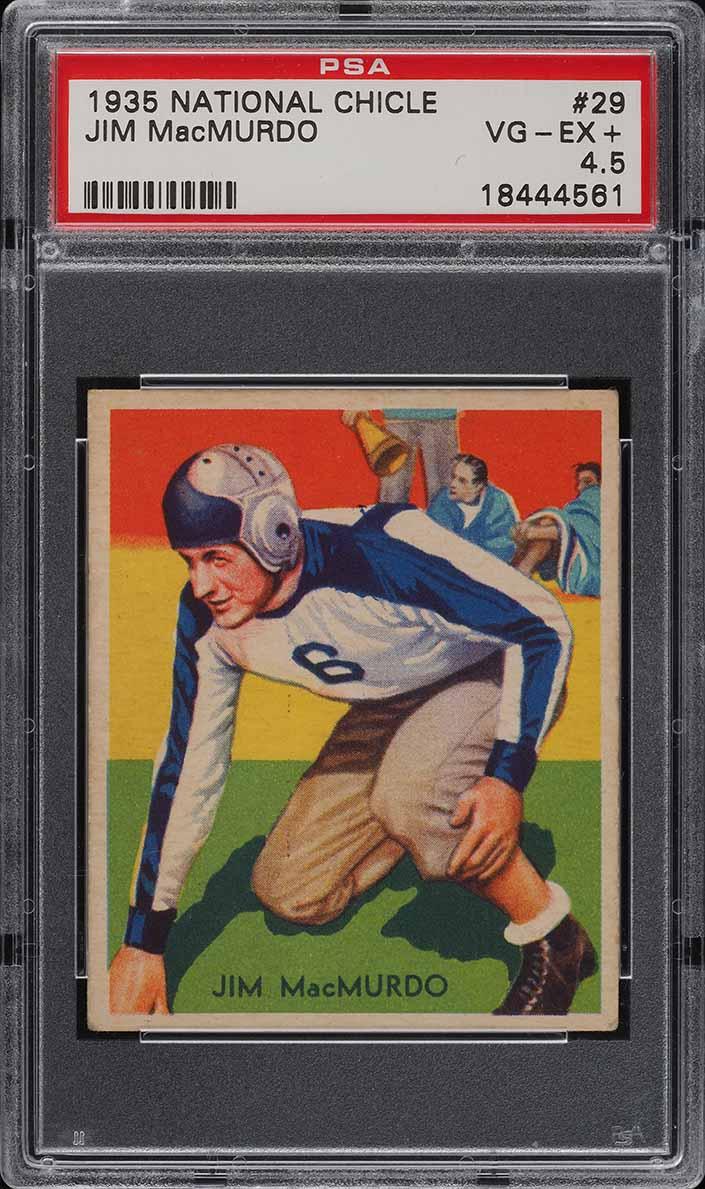1935 National Chicle Football Jim MacMurdo #29 PSA 4.5 VGEX+ (PWCC-A) - Image 1