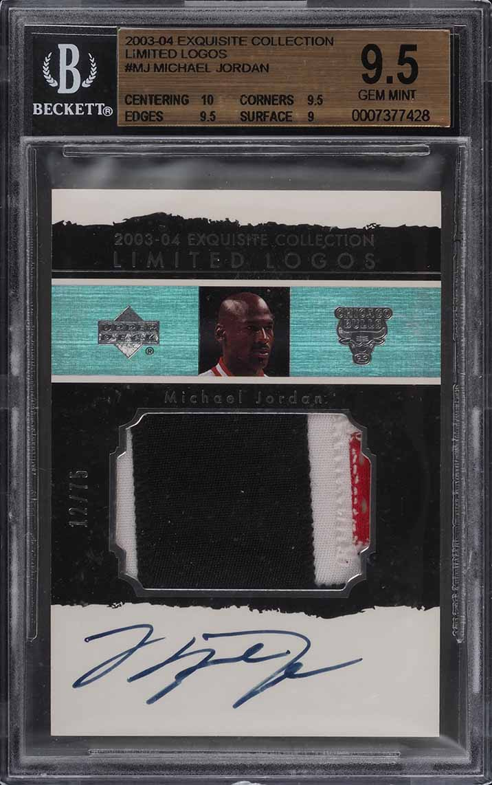2003 Exquisite Collection Limited Michael Jordan PATCH AUTO /75 BGS 9.5 (PWCC) - Image 1