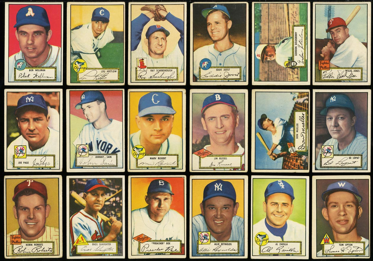 1952 Topps Lo-Mid Grd COMPLETE SET Mays Mathews Berra Robinson Mantle PSA (PWCC) - Image 8