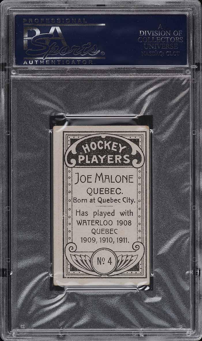 1911 C55 Hockey Joe Malone ROOKIE RC #4 PSA 4 VGEX (PWCC) - Image 2