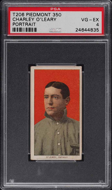 1909-11 T206 SETBREAK Charley O'Leary PORTRAIT PSA 4 VGEX (PWCC) - Image 1