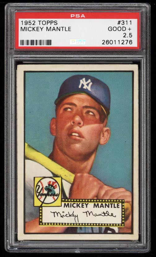 1952 Topps Mickey Mantle #311 PSA 2.5 GD+ (PWCC-HE) - Image 1