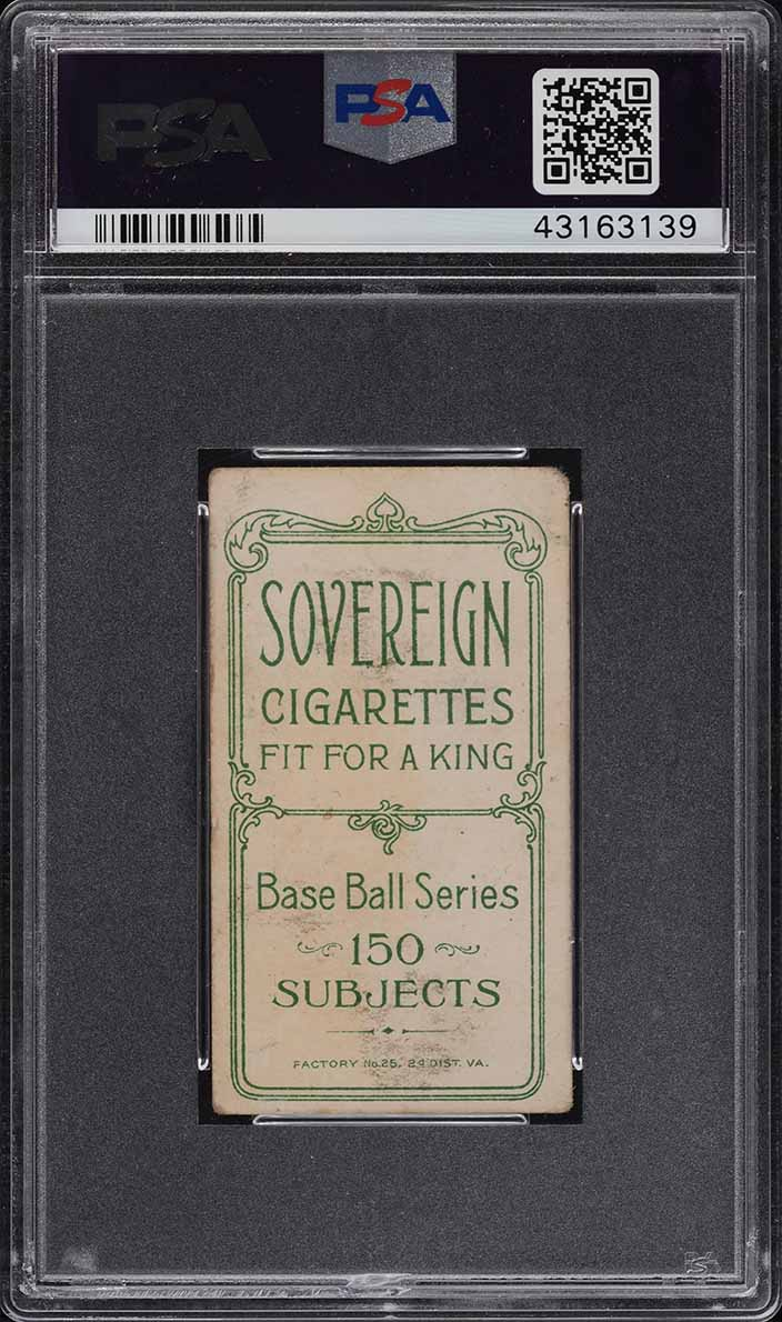 1909-11 T206 Rube Oldring FIELDING, SOVEREIGN PSA 3 VG (PWCC) - Image 2