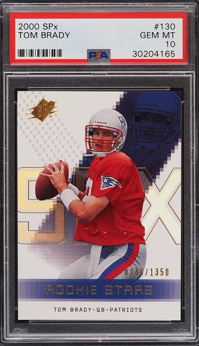 2000 SPx Football Tom Brady ROOKIE RC /1350 #130 PSA 10 GEM MINT - Image 1
