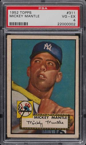 Image of: 1952 Topps Mickey Mantle #311 PSA 4 VGEX (PWCC)