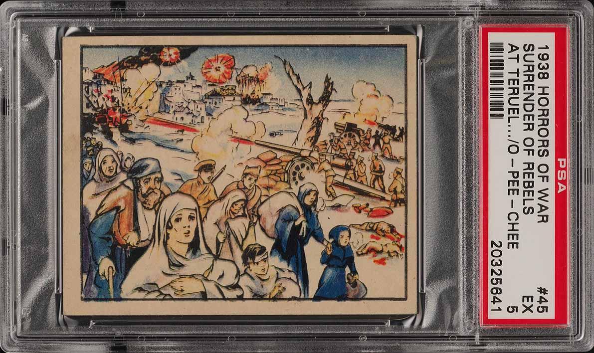 1938 V278 Canadian O Pee Chee Horrors of War Srurender #45 PSA 5 EX (PWCC) - Image 1