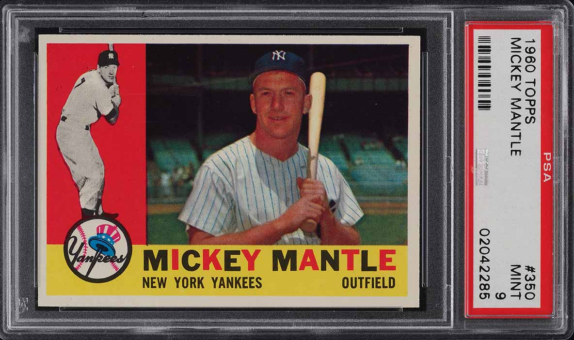1960 Topps Mickey Mantle #350 PSA 9 MINT - Image 1