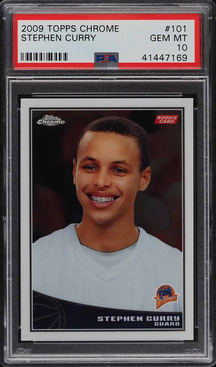 2009 Topps Chrome Stephen Curry ROOKIE RC /999 #101 PSA 10 GEM MINT - Image 1