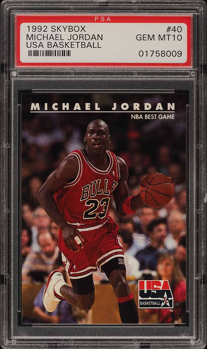 1992 Skybox USA Michael Jordan #40 PSA 10 GEM MINT (PWCC) - Image 1