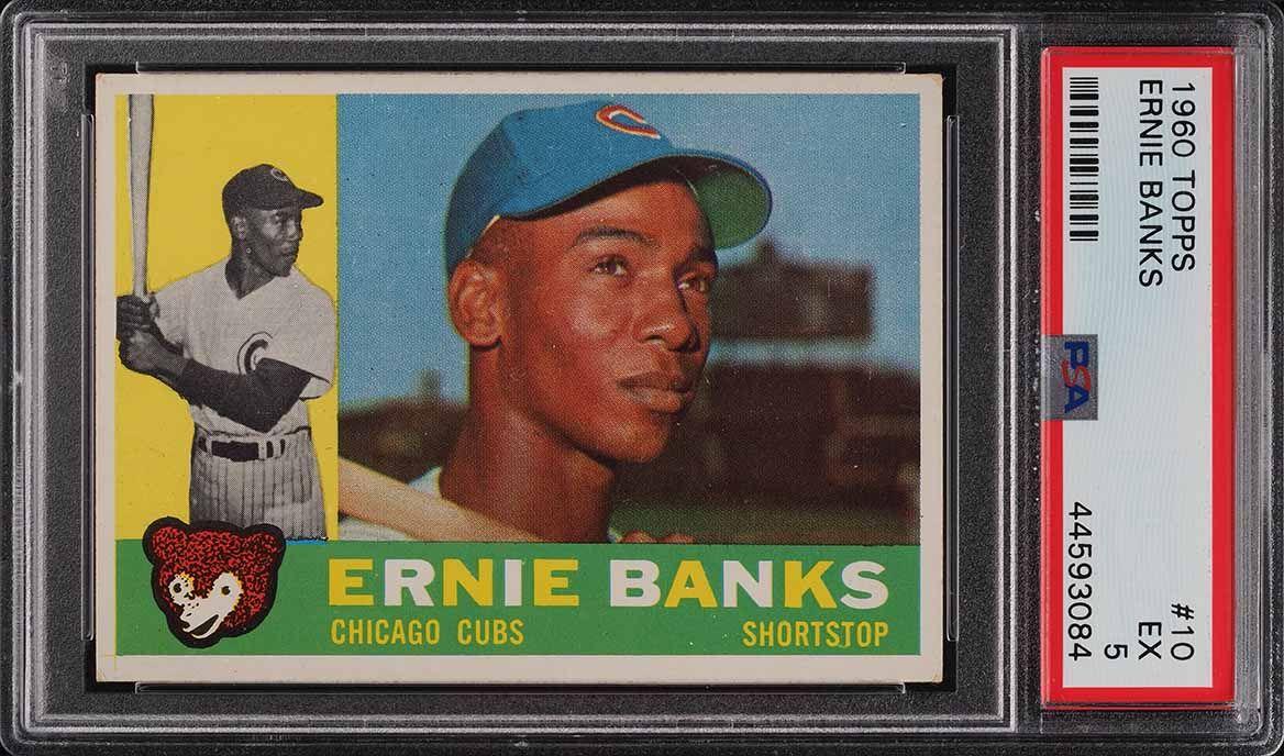 1960 Topps Ernie Banks #10 PSA 5 EX - Image 1