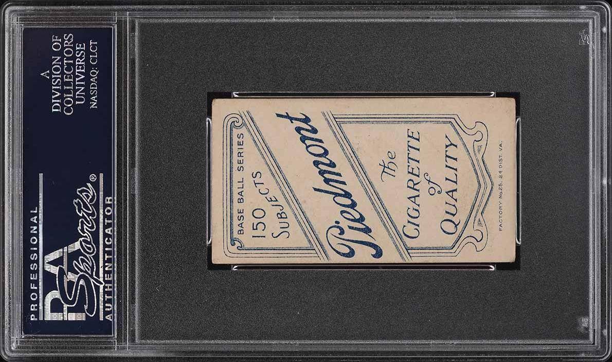 1909-11 T206 SETBREAK Harry Pattee HORIZONTAL PSA 4 VGEX (PWCC) - Image 2