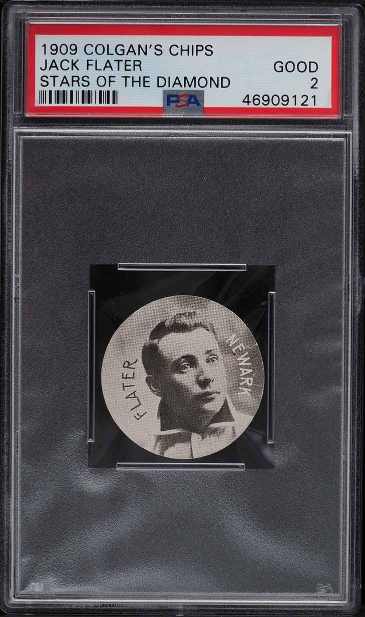 1909 Colgan's Chips Stars Of The Diamond Jack Flater PSA 2 GD - Image 1