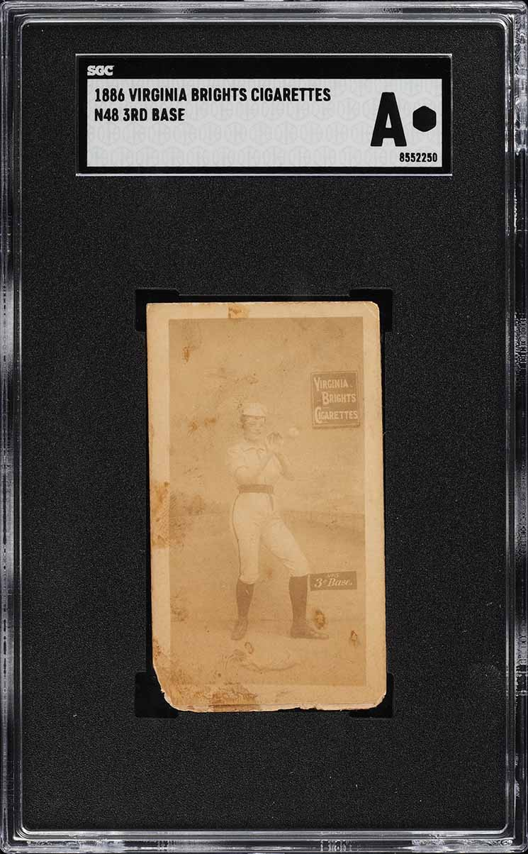 1886 N48 Virginia Brights 3rd Base SGC Auth (PWCC) - Image 1