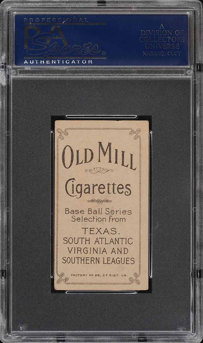 1909-11 T206 SETBREAK William Otey SOUTHERN LEAGUER, OLD MILL PSA 4 VGEX (PWCC) - Image 2