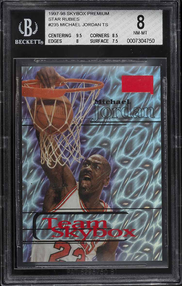 1997 Skybox Premium Star Rubies Michael Jordan # 45/50 #235 BGS 8 NM-MT - Image 1
