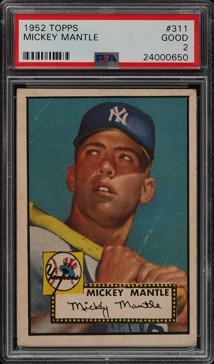 Image of: 1952 Topps Mickey Mantle #311 PSA 2 GD (PWCC-A)
