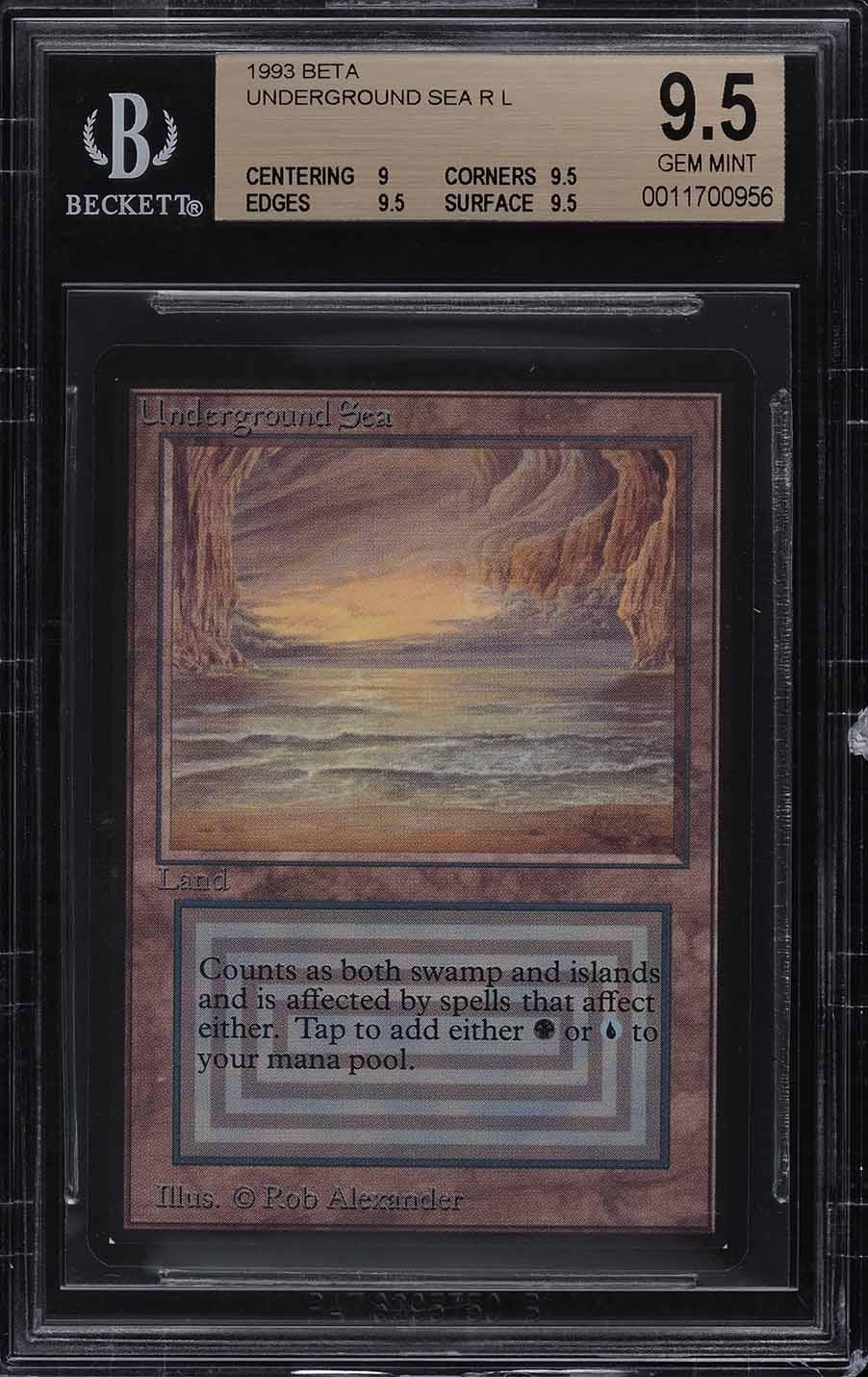 1993 Magic The Gathering MTG Beta Dual Land Underground Sea R L BGS 9.5 (PWCC) - Image 1