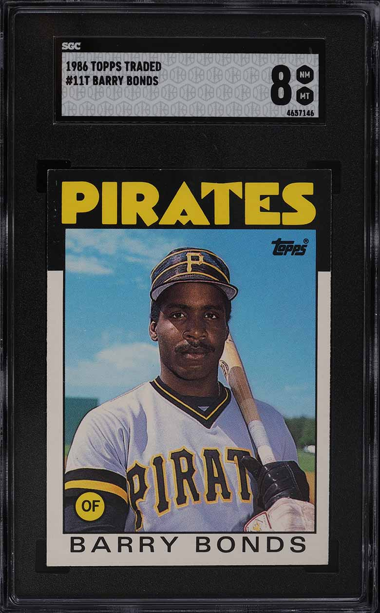 1986 Topps Traded Barry Bonds ROOKIE RC #11T SGC 8 NM-MT - Image 1