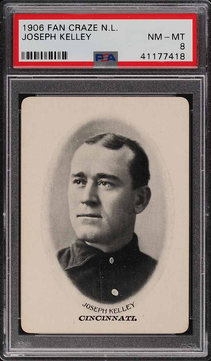 1906 Fan Craze N.L. Joseph Kelley PSA 8 NM-MT - Image 1