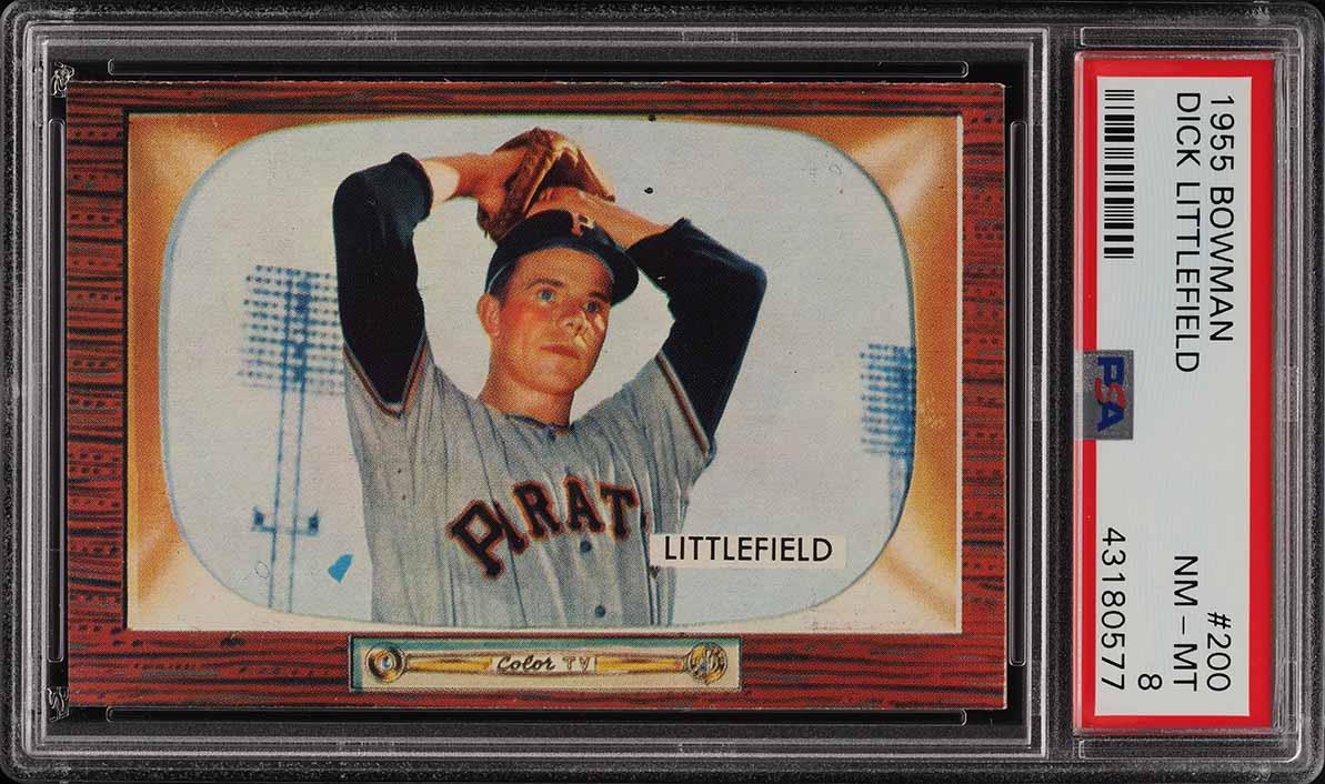 1955 Bowman Dick Littlefield #200 PSA 8 NM-MT (PWCC) - Image 1