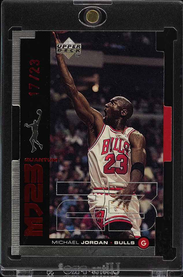 1998 Upper Deck MJ23 Quantum Silver Die-Cut Michael Jordan 17/23 #M20 (PWCC) - Image 1