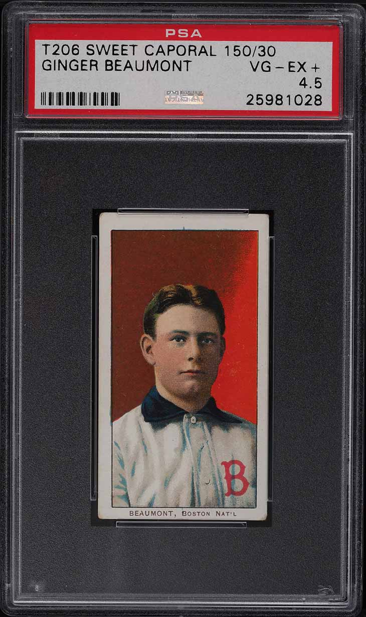 1909-11 T206 Ginger Beaumont PSA 4.5 VGEX+ - Image 1