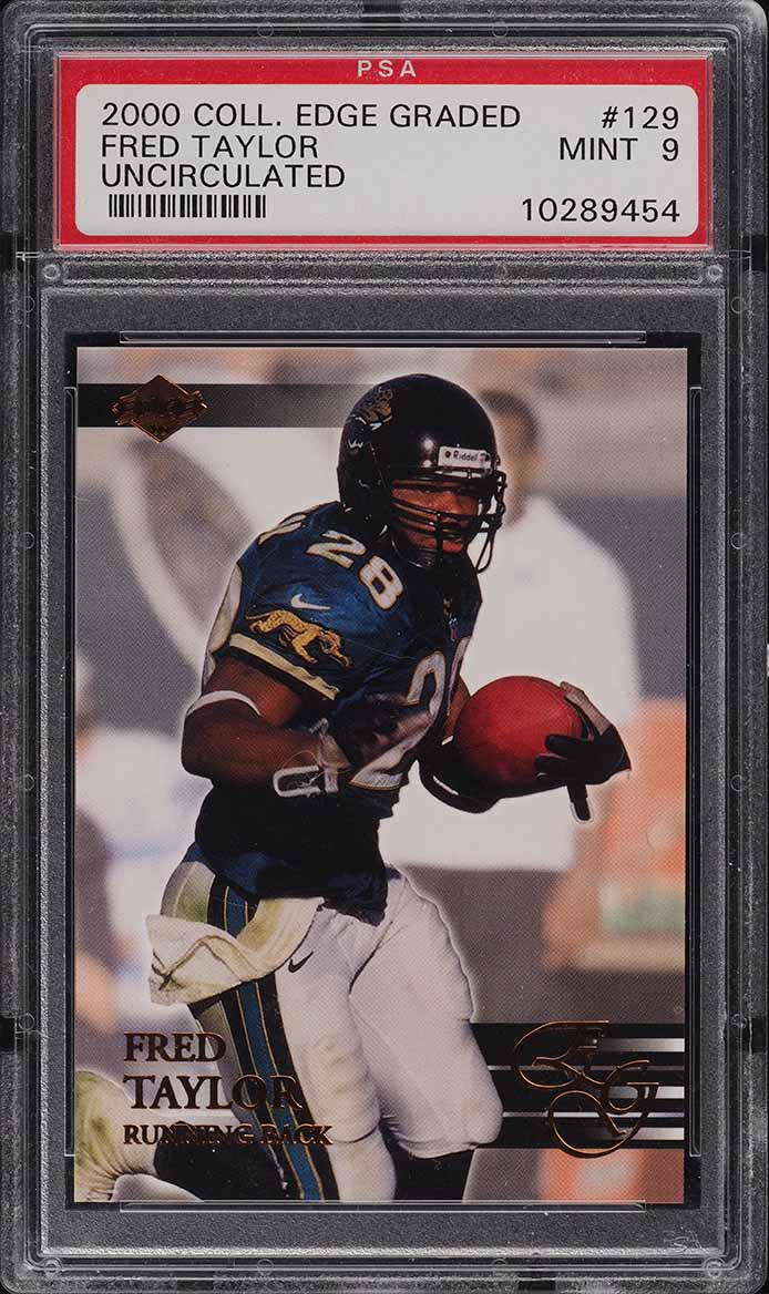 2000 Collector's Edge Graded Uncirculated Fred Taylor /5000 #129 PSA 9 MINT - Image 1