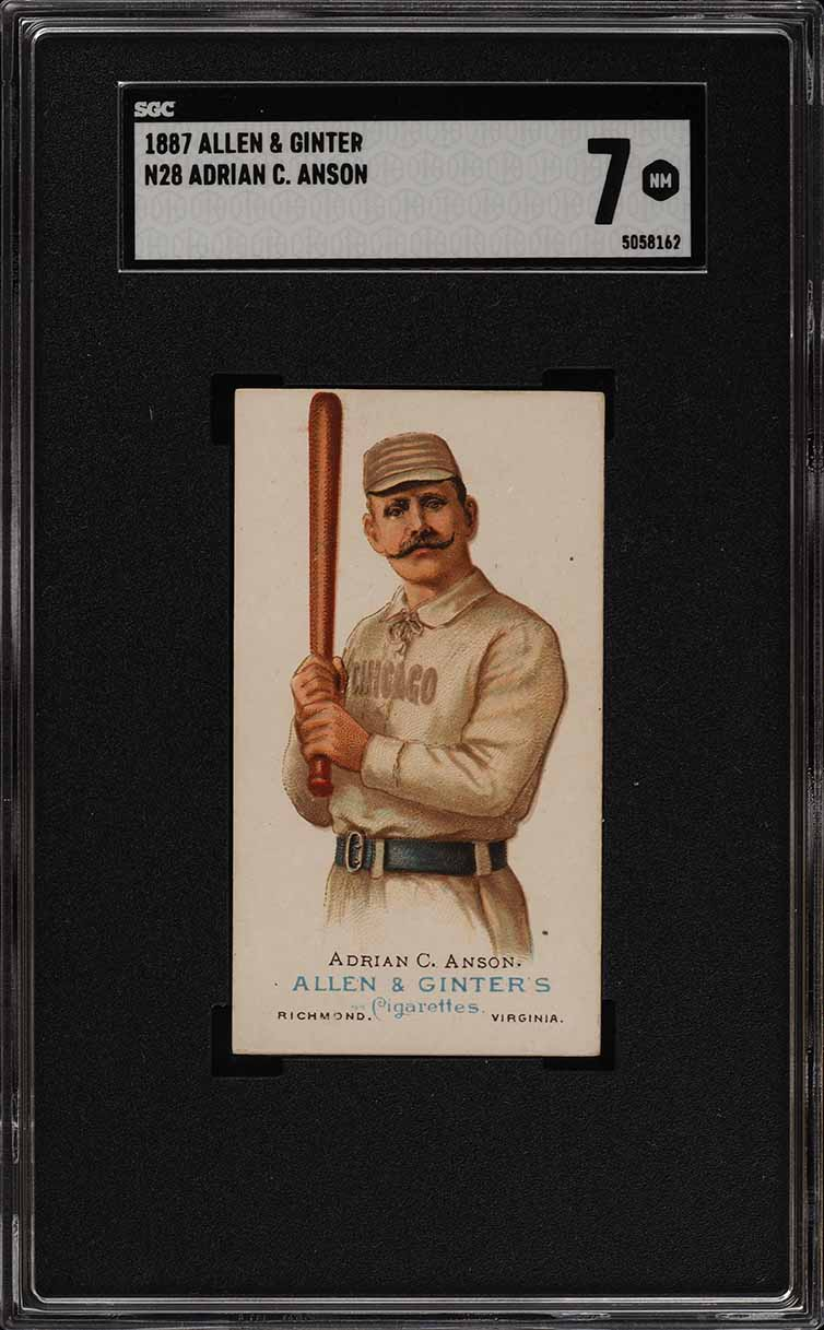 1887 N28 Allen & Ginter Adrian Cap Anson SGC 7 NRMT (PWCC) - Image 1
