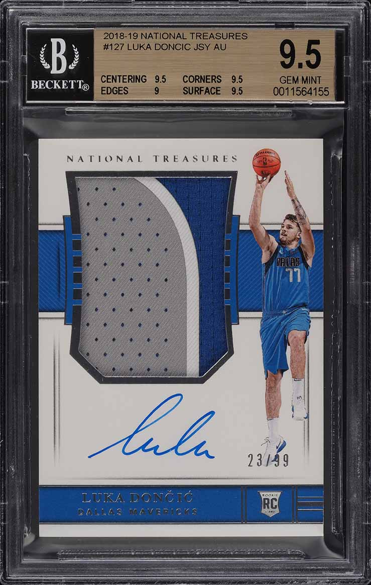 2018 National Treasures Luka Doncic ROOKIE RC AUTO PATCH /99 #127 BGS 9.5 (PWCC) - Image 1