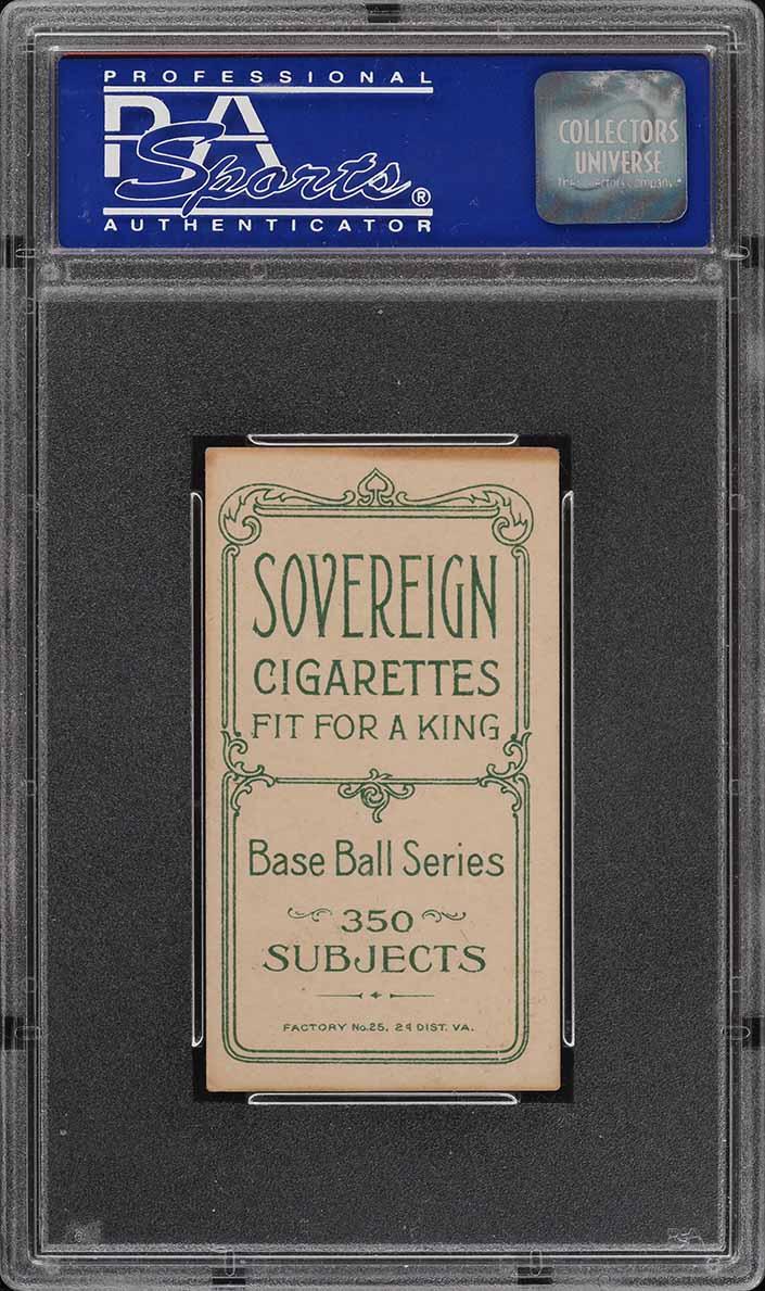 1909-11 T206 SETBREAK Frank Oberlin SOVEREIGN PSA 5 EX (PWCC) - Image 2