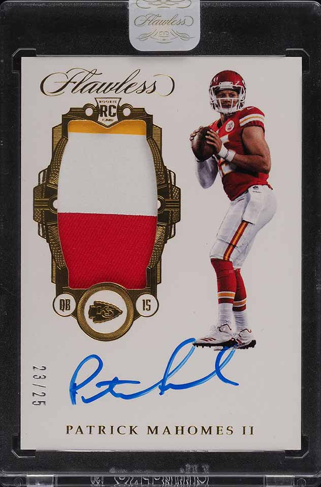 2017 Panini Flawless Patrick Mahomes ROOKIE RC PATCH AUTO /25 #RP-PM - Image 1