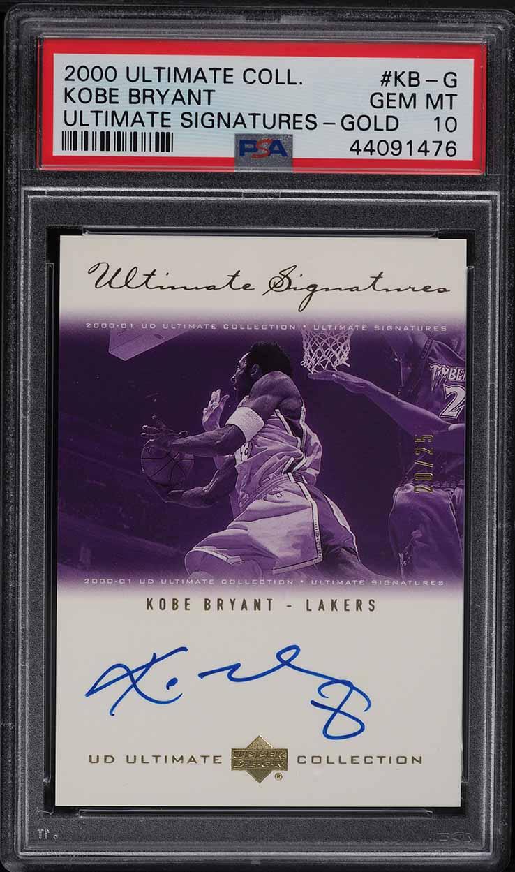 2000 Ultimate Collection Signatures Gold Kobe Bryant AUTO /25 #KB-G PSA 10 GEM - Image 1