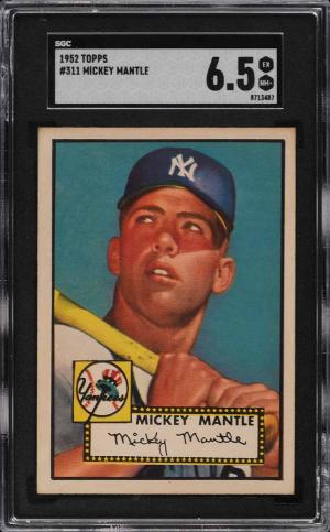 Image of: 1952 Topps Mickey Mantle #311 SGC 6.5 EXMT+ (PWCC-E)