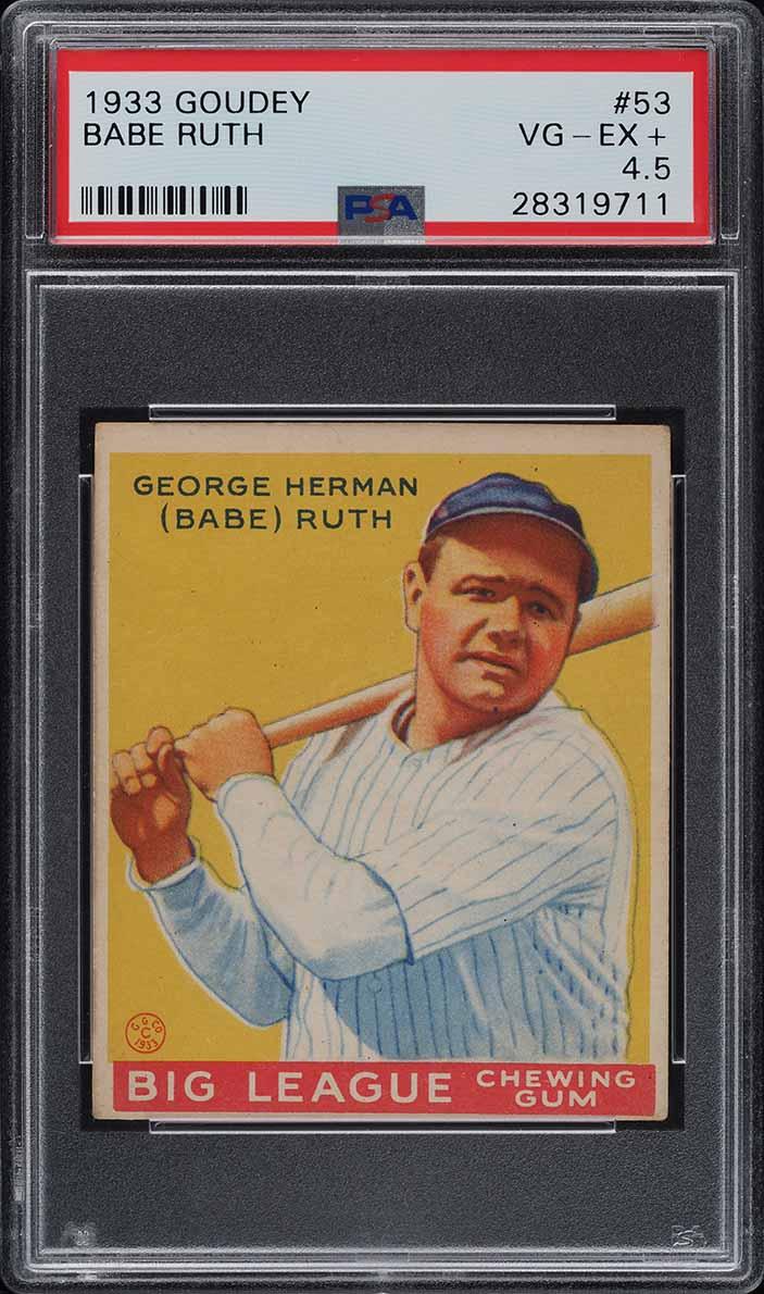 1933 Goudey Babe Ruth #53 PSA 4.5 VGEX+ (PWCC) - Image 1